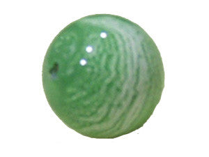 Green 14mm Round  Qty:  10