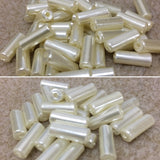 12x5mm Tube Acrylic Pearl Beads - 2 colours available
