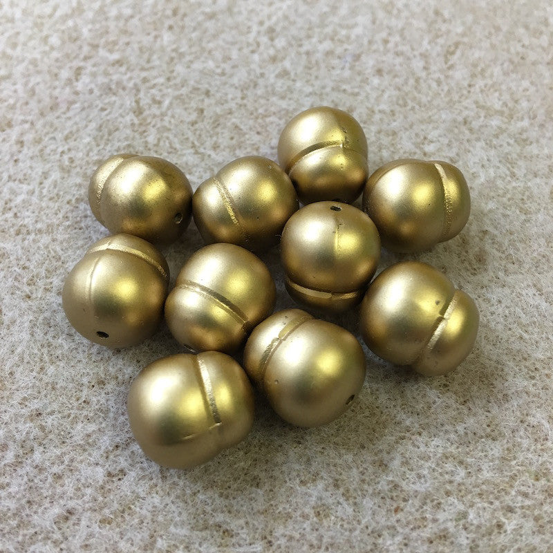 14x12mm Potato Shaped Matte Gold Vintage Bohemian Style Bead