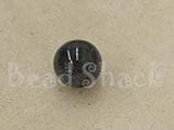 Black/Grey 10mm Round Qty: 10