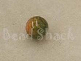 Brown/Green 10mm Round Qty: 10