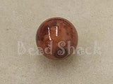 Brown 10mm Round Qty: 10