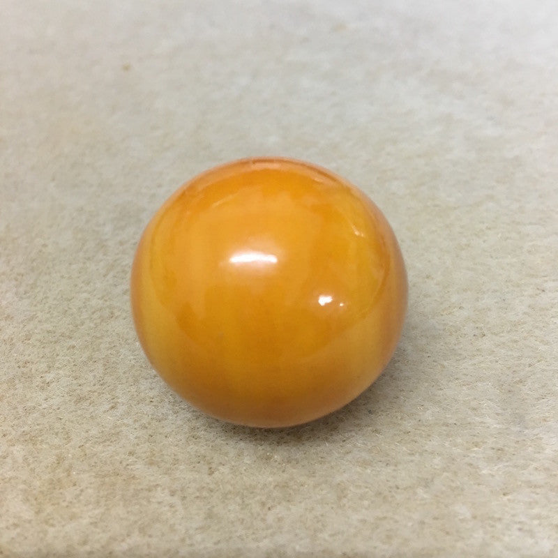 Lacquered Wood 28mm Round Bead - Yellow Ochre