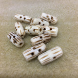 Tube 16x7mm Bone Bead Qty: 10