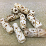Tube 25x8mm Bone Bead Qty: 10