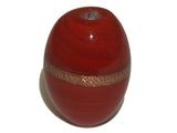 Egg Opaque Red & Bronze Qty: 5