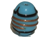 Egg Light Blue, Black  & Bronze Qty: 5