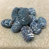 Blue Terracotta Clay Bead