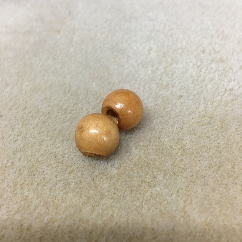 Wood 12mm Round Beads Qty: 50 beads