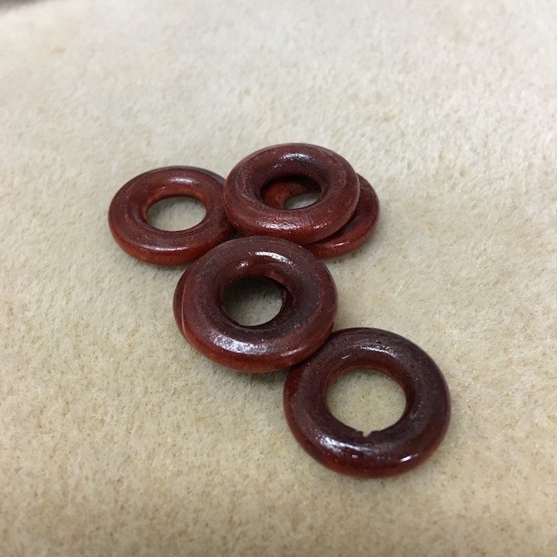 Wood 22mm Rings Qty: 10 beads