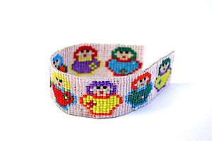 Babushka Square Stitch Bracelet Kit