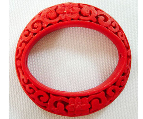 Frame Red Cinnabar Bead Qty: 1