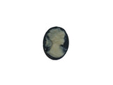12x10mm Black & Ivory Cameo Qty: 1 - Bead Shack
