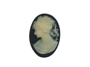 18x13mm Black & Ivory Cameo