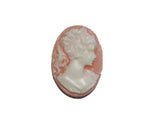 18x13mm Peach & Ivory Cameo - Bead Shack