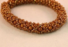 Chenille Bracelet Kit (Czech Druk Beads)