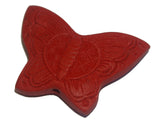 Butterfly Red Cinnabar Bead Qty: 1