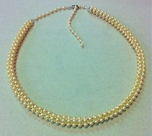 Courtly Pearl Necklace Kit Black/Gold