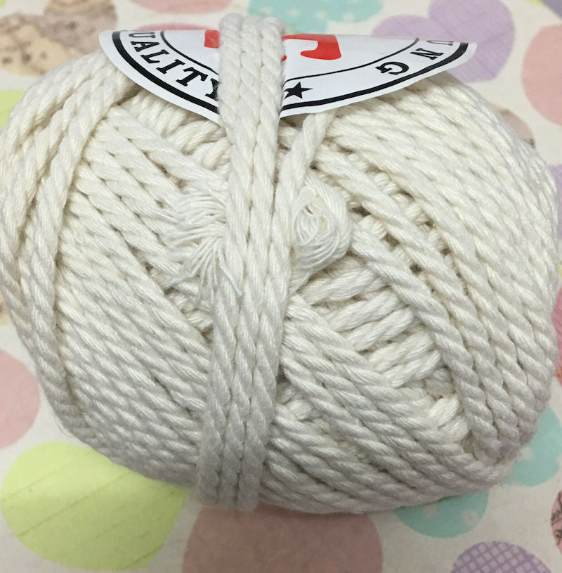 3-4mm Natural Cotton Macrame Rope - Natural