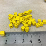 Wood 5mm Cube Beads (50 beads) - 10 colours available