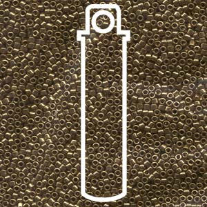 # 022L DBR Delica 11/0 METALLIC LIGHT BRONZE - 7.2g Tube