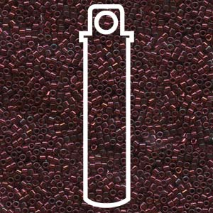 # 105 DBR Delica 11/0 GOLD LUSTRE TRANSPARENT DARK RED Qty: 7.2g Tube