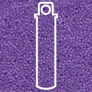 # 1379 DBR Delica 11/0 DYED OPAQUE RED VIOLET - 7.2 gram Tube