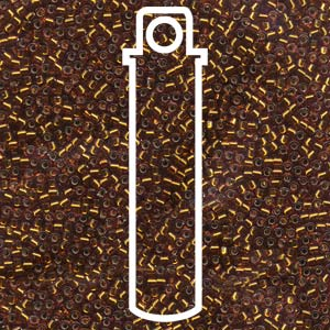 # 144 DBR Delica 11/0 AMBER SILVERLINED - 7.2 gram Tube