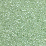 # 1474 DBR Delica 11/0 TRANSPARENT PALE GREEN MIST LUSTRE Qty: 5 grams