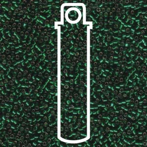 # 148 DBR Delica 11/0 SILVERLINED CHRISTMAS GREEN -7.2 gram Tube