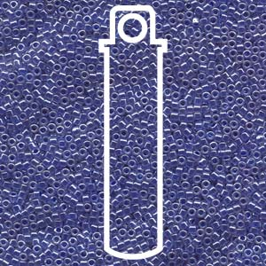 # 243 DBR Delica 11/0 LINED CRYSTAL MEDIUM BLUE LUSTRE - 7.2g Tube
