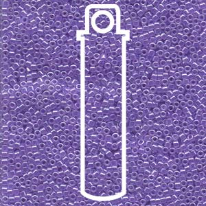 # 249 DBR Delica 11/0 LINED CRYSTAL PURPLE - 7.2 gram Tube