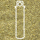 # 412 DBR Delica 11/0 GALVANISED YELLOW - 7.2gram Tube