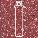 # 685 DBR Delica 11/0 SEMI-MATTE SILVERLINED DARK ROSE - 7.2 gram Tube