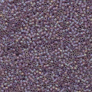 # 857 DBR Delica 11/0 MATTE LIGHT AMETHYST AB Qty: 5 grams