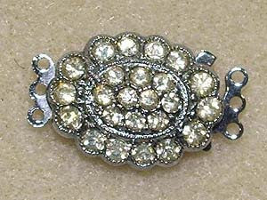 3 Loop Oval Vintage Clasp Qty: 1 Set