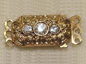 3 Loop Gold Vintage Clasp Qty: 1 Set