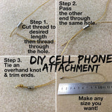 DIY Cell Phone or Decoration Metal End Pieces