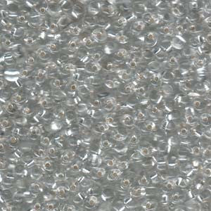 Clear Silverlined 3.4mm Drop Qty: 10 grams