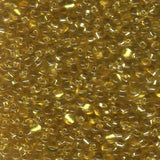 Gold Silverlined 3.4mm Drop Qty: 10 grams