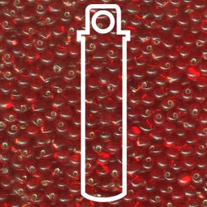 Red Silverlined 3.4mm Drop - 25 gram Tube