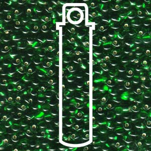 Green Silverlined 3.4mm Drop - 25 gram Tube