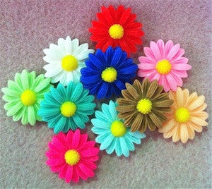 Daisy Cabochons Qty: 2 - 4 Colours Available