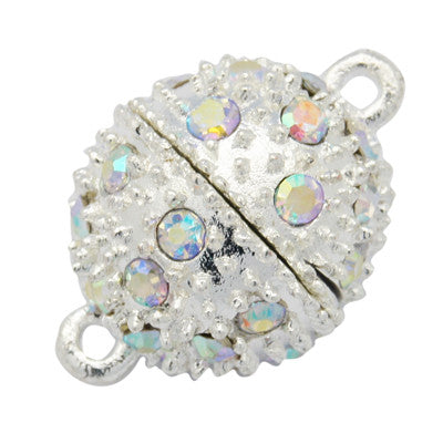 14mm Magnetic Diamante Clasp Qty: 1 - Bead Shack
