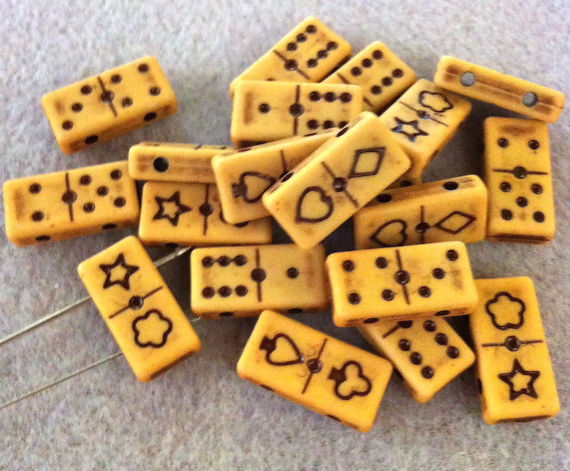 Domino Beads - 2 colours available (Qty: 20)