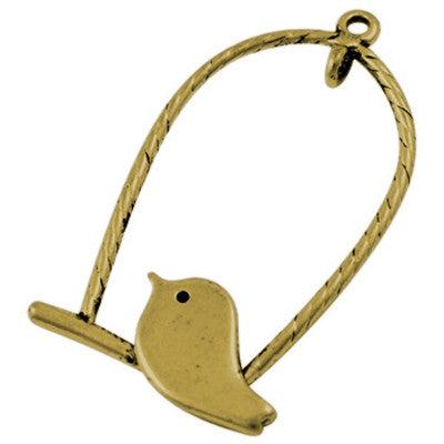 Lovebird on a Swing, Antique Gold Qty: 1