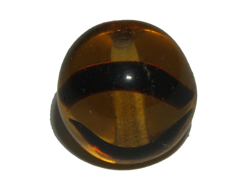 Tortoise Shell Givre 10mm Round Qty: 10 beads