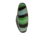 Brown/Green Tiger Stripe 22x7mm Qty: 10 beads