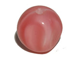 Coral Pink/White Opaque 8mm Pinched Round Qty: 10 beads