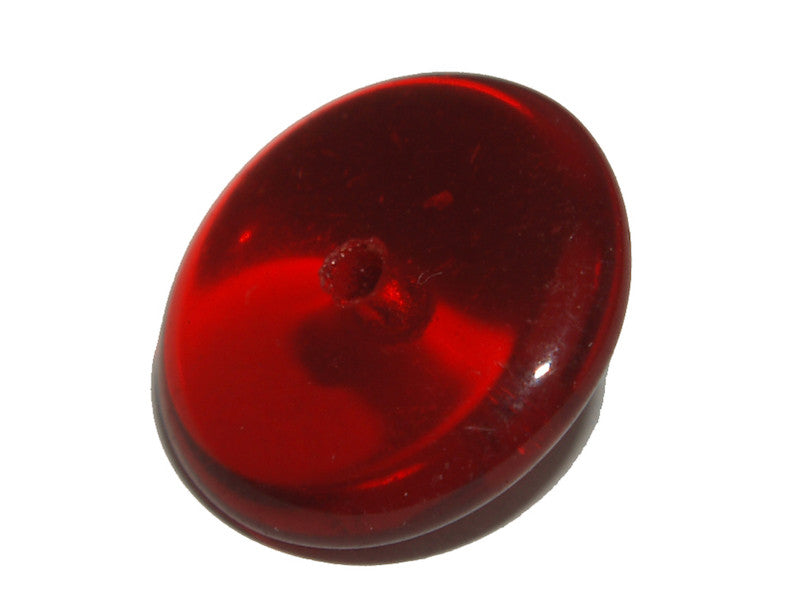 Ruby Red Transparent 12mm Rondelle Qty: 10 beads